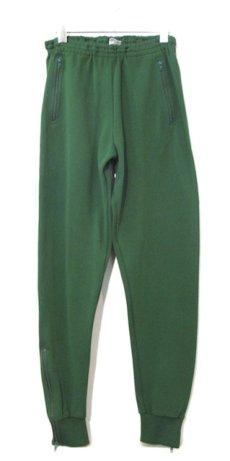 画像2: 1970-80's Europe Tapered Jersey Pants GREEN size S (表記 48) (2)