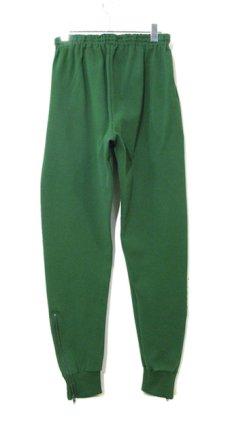 画像1: 1970-80's Europe Tapered Jersey Pants GREEN size S (表記 48) (1)