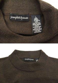 """画像4: """"joseph & lyman"""" Wool Mock Neck Knit -made in AUSTRALIA- BROWN size M - L (表記 L) (4)"""