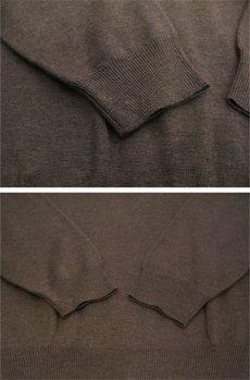 """画像5: """"joseph & lyman"""" Wool Mock Neck Knit -made in AUSTRALIA- BROWN size M - L (表記 L) (5)"""