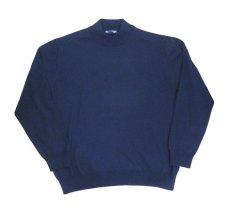"""画像3: """"GRANT THOMAS"""" Merino Wool Mock Neck Knit -made in ITALY- NAVY size L (表記 XL) (3)"""