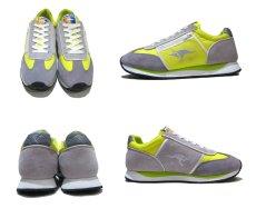 画像2: KangaROOS  Leather / Nylon Sneaker Grey / Yellow size 9 / 27cm (表記 Lady's10) (2)