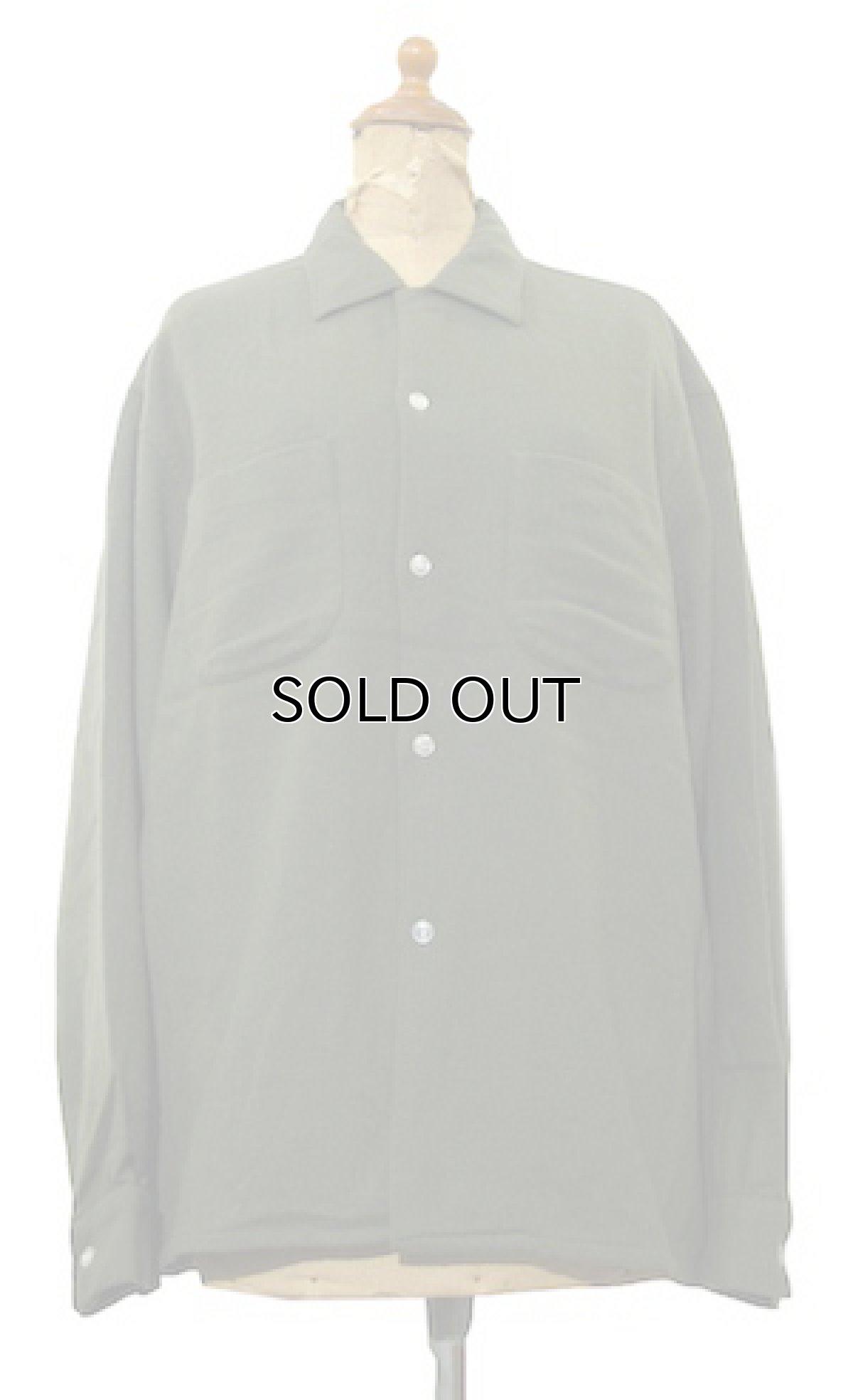 画像1: 1960's Belvedere L/S Wool Shirts Olive Green size L (表記 16 - 16 1/2 L) (1)