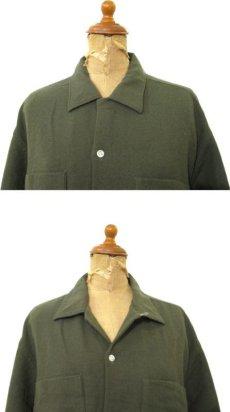 画像3: 1960's Belvedere L/S Wool Shirts Olive Green size L (表記 16 - 16 1/2 L) (3)