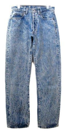 画像1: 1990's Levi's Lot 501 Chemical Wash Denim Pants -made in USA- Blue Denim size w 30 inch (表記 31 x 32) (1)