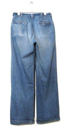 画像2: 1950's BIG MAC Denim Trousers Indigo Blue size w 31 inch (2)
