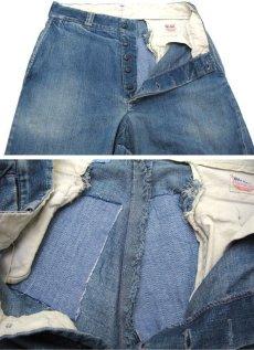画像4: 1950's BIG MAC Denim Trousers Indigo Blue size w 31 inch (4)