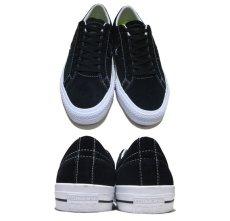 """画像2: NEW CONVERSE """"ONE STAR"""" Suede Skate Shoes Black / White size 7 (2)"""