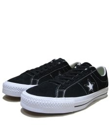 """画像1: NEW CONVERSE """"ONE STAR"""" Suede Skate Shoes Black / White size 7 (1)"""