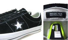"""画像5: NEW CONVERSE """"ONE STAR"""" Suede Skate Shoes Black / White size 7 (5)"""