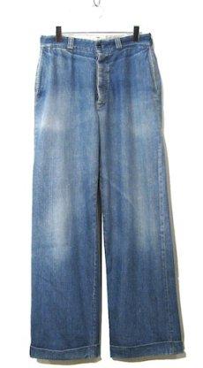 画像1: 1950's BIG MAC Denim Trousers Indigo Blue size w 31 inch (1)