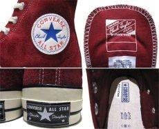 "画像5: NEW Converse ""First String"" Hi-Cut Suede Sneaker Burgundy size 10 (5)"