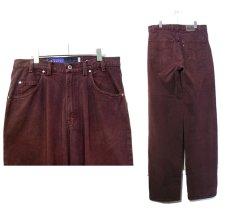 """画像2: 1990's Levi's """"Silver Tab"""" BAGGY Tuck Denim Pants Burgundy size w 34 inch (表記 34 x 34) (2)"""