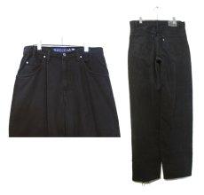 """画像2: 1990's Levi's """"Silver Tab"""" BAGGY Tuck Denim Pants Black size w 34.5 inch (表記 34 x 34) (2)"""