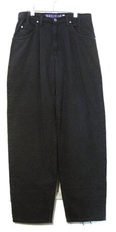 """画像1: 1990's Levi's """"Silver Tab"""" BAGGY Tuck Denim Pants Black size w 34.5 inch (表記 34 x 34) (1)"""