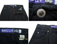 """画像3: 1990's Levi's """"Silver Tab"""" BAGGY Tuck Denim Pants Black size w 34.5 inch (表記 34 x 34) (3)"""