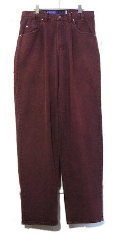 """画像1: 1990's Levi's """"Silver Tab"""" BAGGY Tuck Denim Pants Burgundy size w 34 inch (表記 34 x 34) (1)"""
