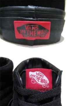"""画像5: NEW VANS """"SK8-HI"""" Suede Skate Shoes BLACK size US 11 (5)"""