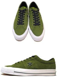 """画像2: NEW CONVERSE """"ONE STAR"""" Suede Skate Shoes IMPERIAL GREEN / WHITE size 9 1/2 (2)"""