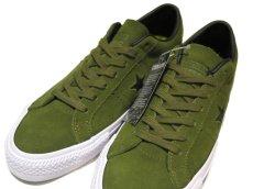 """画像4: NEW CONVERSE """"ONE STAR"""" Suede Skate Shoes IMPERIAL GREEN / WHITE size 9 1/2 (4)"""