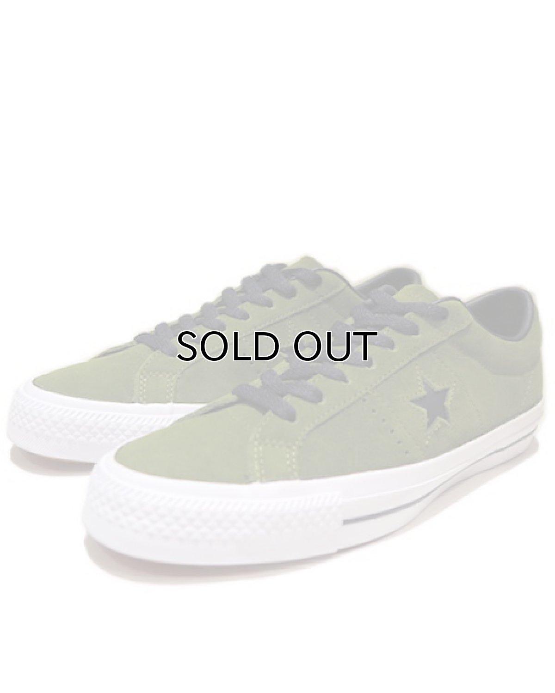 """画像1: NEW CONVERSE """"ONE STAR"""" Suede Skate Shoes IMPERIAL GREEN / WHITE size 9 1/2 (1)"""