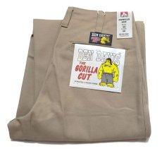 """画像5: BEN DAVIS  """"THE GORILLA CUT"""" Wide Work Pants BEIGE size  w 30 / w 32 (5)"""