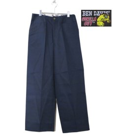 "画像2: BEN DAVIS  ""THE GORILLA CUT"" Wide Work Pants NAVY size  w 30 / w 32 (2)"
