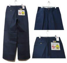 "画像3: BEN DAVIS  ""THE GORILLA CUT"" Wide Work Pants NAVY size  w 30 / w 32 (3)"