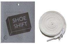 """画像1: SHOE SHIFT """"Regular Width"""" Cotton Shoelace -made in JAPAN- WHITE (1)"""