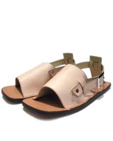 "画像2: JUTTA NEUMANN ""JEFF"" Leather Sandal NATURAL size 9 D (2)"
