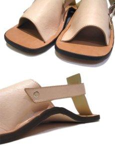 "画像6: JUTTA NEUMANN ""JEFF"" Leather Sandal NATURAL size 9 D (6)"