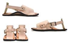 "画像3: JUTTA NEUMANN ""JEFF"" Leather Sandal NATURAL size 9 D (3)"