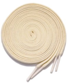 """画像2: SHOE SHIFT """"Narrow Width"""" Cotton Shoelace -made in JAPAN- NATURAL (2)"""