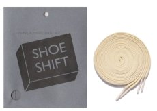 """画像1: SHOE SHIFT """"Narrow Width"""" Cotton Shoelace -made in JAPAN- NATURAL (1)"""