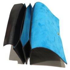 "画像3: ""JUTTA NEUMANN"" Leather Wallet ""the Waiter's Wallet""  color : Black / Sky Blue 長財布 (3)"