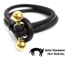 画像1: JUTTA NEUMANN Leather Wrist Band ブレスレット color : Dark Brown size : S, M, L (1)