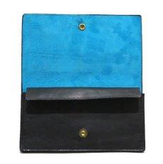 "画像2: ""JUTTA NEUMANN"" Leather Wallet ""the Waiter's Wallet""  color : Black / Sky Blue 長財布 (2)"