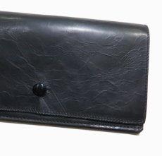 """画像8: """"JUTTA NEUMANN"""" Leather Wallet """"the Waiter's Wallet""""  color : Black / Yellow 長財布 (8)"""
