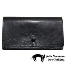 """画像1: """"JUTTA NEUMANN"""" Leather Wallet """"the Waiter's Wallet""""  color : Black / Yellow 長財布 (1)"""