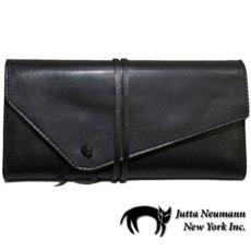 """画像1: """"JUTTA NEUMANN"""" Leather Wallet """"String Wallet""""  color : Black / Brown 長財布 (1)"""
