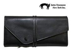 """画像2: """"JUTTA NEUMANN"""" Leather Wallet """"String Wallet""""  color : Black / Brown 長財布 (2)"""