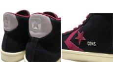 """画像4: NEW CONVERSE """"PRO LEATHER MID"""" Suede Skate Shoes  -NIKE ルナロンソール- Black/Burgundy size 11 (4)"""