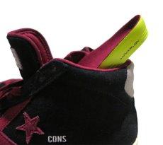 """画像6: NEW CONVERSE """"PRO LEATHER MID"""" Suede Skate Shoes  -NIKE ルナロンソール- Black/Burgundy size 11 (6)"""