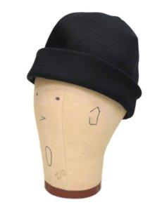 """画像3: Riprap """"MELTON WATCH CAP"""" -made in JAPAN- color : BLACK size : M (59cm) (3)"""