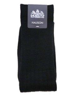 画像1: Riprap HALISON Nz MERINO LONG HOSE SOCKS color : BLACK size FREE (25~27cm) (1)