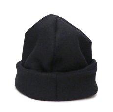 """画像2: Riprap """"MELTON WATCH CAP"""" -made in JAPAN- color : BLACK size : M (59cm) (2)"""