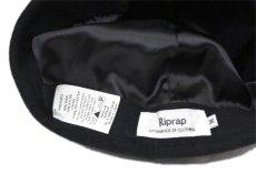 """画像8: Riprap """"MELTON WATCH CAP"""" -made in JAPAN- color : BLACK size : M (59cm) (8)"""