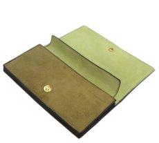 """画像6: """"JUTTA NEUMANN"""" Leather Wallet """"the Waiter's Wallet""""  -Suede-  color : Suede Green / Lime Green (6)"""