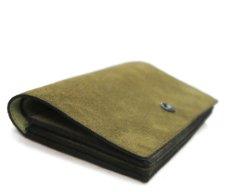 """画像4: """"JUTTA NEUMANN"""" Leather Wallet """"the Waiter's Wallet""""  -Suede-  color : Suede Green / Lime Green (4)"""