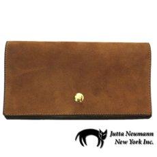 """画像1: """"JUTTA NEUMANN"""" Leather Wallet """"the Waiter's Wallet""""  -Suede-  color : Suede Brown / Orange (1)"""